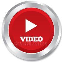 pulsante video rosso