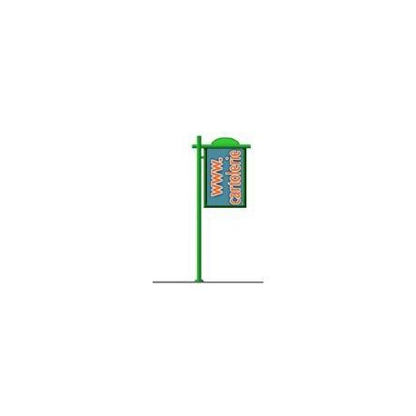 Cartellone statico mini tipo Palina a bandiera