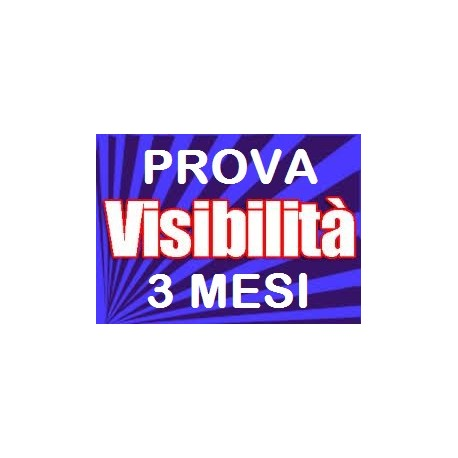 Pagina Visibilità PLUS ... per fare tutto - Prova visibilità gratis