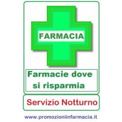 Farmacie - Pagina Risparmio con servizio notturno costante