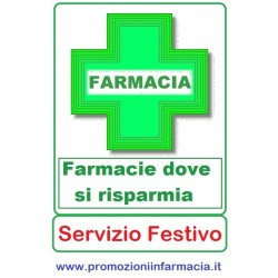 Farmacie - Pagina Risparmio con Servizio Festivo costante