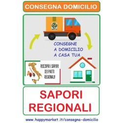"""Attività che vendono """"Sapori Regionali"""" con la consegna a domicilio"""